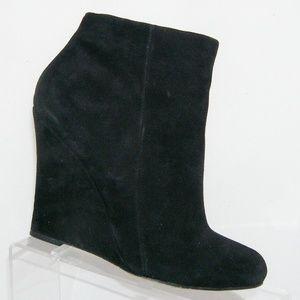 Sam Edelman 'Wilma' black suede zip booties 9M